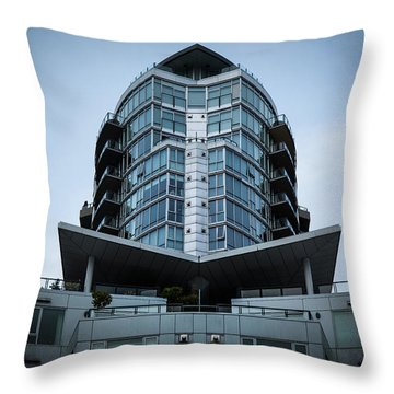Throw Pillow featuring the photograph Vancouver Architecture by Juan Contreras
