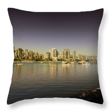 Vancouver In Magical Hours Throw Pillow