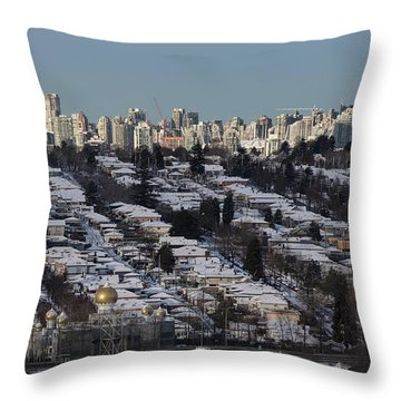 Throw Pillow featuring the photograph Vancouver In Winter No. 1 by Juan Contreras