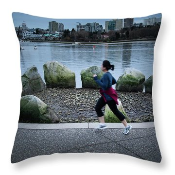 Throw Pillow featuring the photograph Vancouver Landscape by Juan Contreras