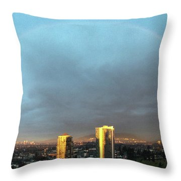 Vancouver Rainbow Throw Pillow