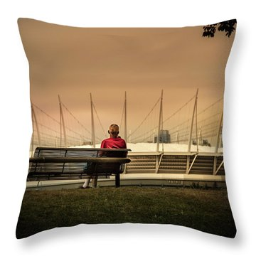 Vancouver Stadium In A Golden Hour Throw Pillow