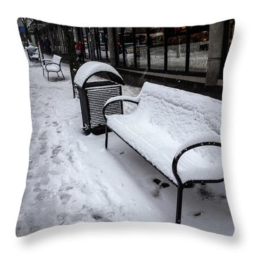 Throw Pillow featuring the photograph Vancouver Winter by Juan Contreras