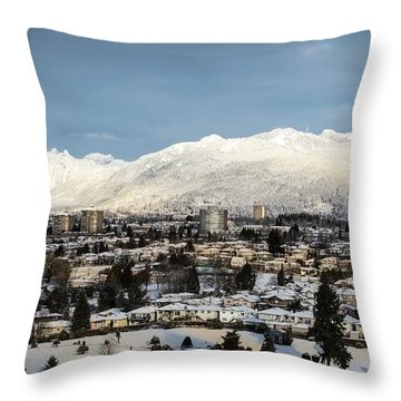 Vancouver Winterscape Throw Pillow