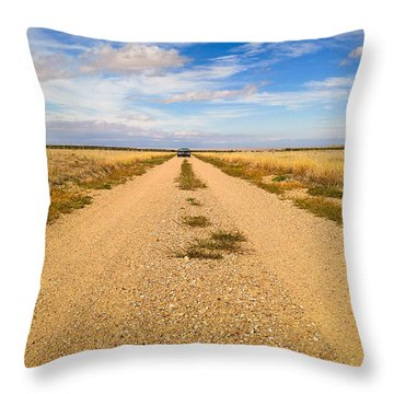 Throw Pillow featuring the photograph Vanishing Point by Carl Young