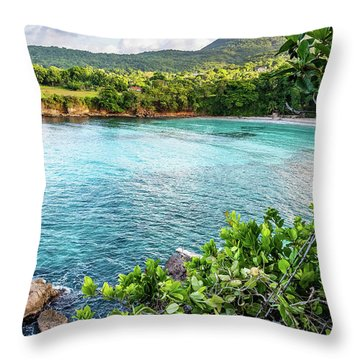 Vantage Views In Portland Jamaica Throw Pillow