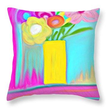 Vase Of Life Throw Pillow