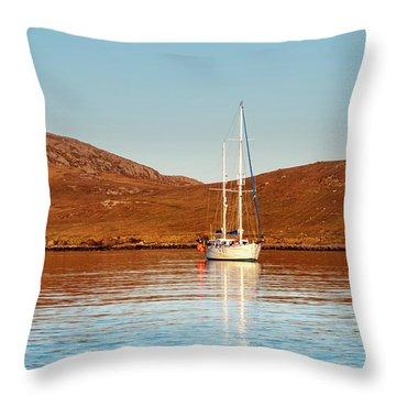 Vatersay Bay Throw Pillow