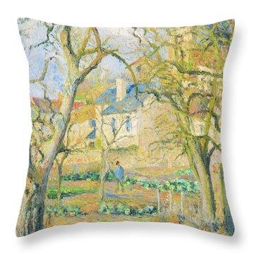 Vegetable Garden - Digital Remastered Edition Throw Pillow