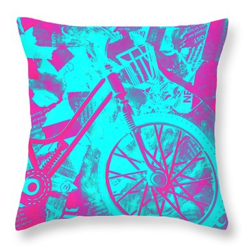 Vehicle Of News Throw Pillow