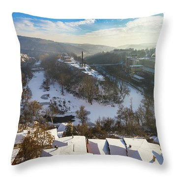 Veliko Turnovo City Throw Pillow