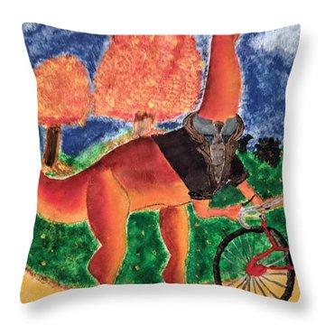 Veloci-saurus Throw Pillow