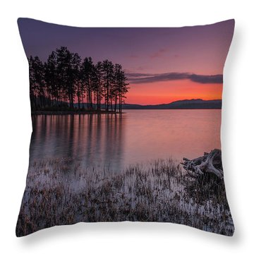 Velvet Lake  Throw Pillow