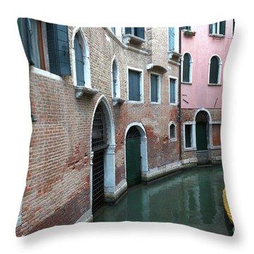 Venetian Streets -canals. Carlo Galdoni Museum Throw Pillow