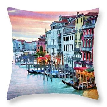 Venetian Sunset Throw Pillow