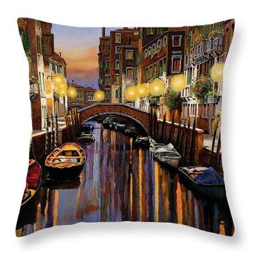 Venice At Dusk Throw Pillow