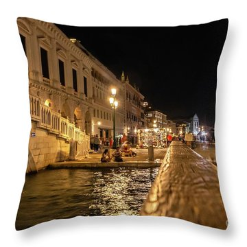 Venice At Night. San Marco Throw Pillow