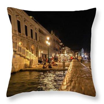 Venice At Night. San Marco Throw Pillow