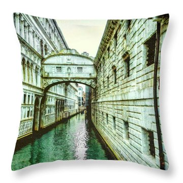 Venice Bridge Of Sighs Throw Pillow