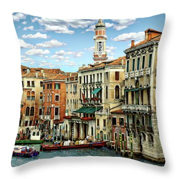 Throw Pillow featuring the photograph Venice Canal by Anthony Dezenzio