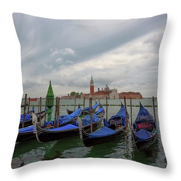 Venice Gondola's Grand Canal Throw Pillow