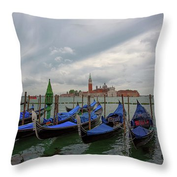 Throw Pillow featuring the photograph Venice Gondola's Grand Canal by Nathan Bush