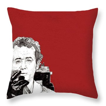 Venkman In Red Throw Pillow