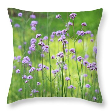 Throw Pillow featuring the photograph Verbena by Tim Gainey