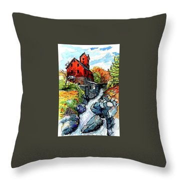 Vermont Red Throw Pillow