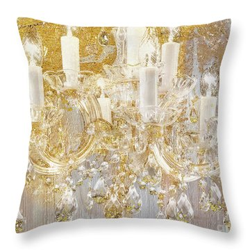 Versailles, French Shabby Glam Chandelier Throw Pillow