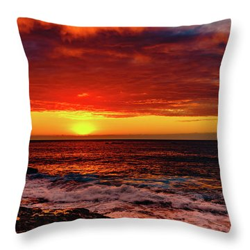 Vertical Warmth Throw Pillow