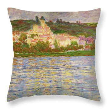 Vetheuil, 1902 - Digital Remastered Edition Throw Pillow