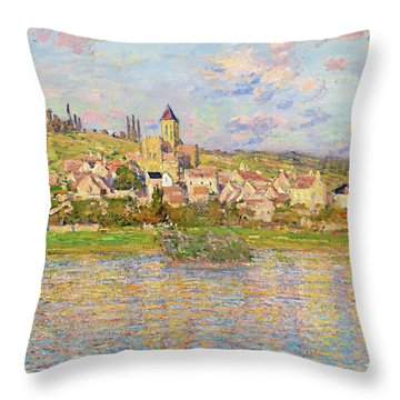 Vetheuil - Digital Remastered Edition Throw Pillow