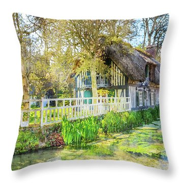 Veules Les Roses Throw Pillow
