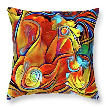 Throw Pillow featuring the digital art Vibrancy by Missy Gainer