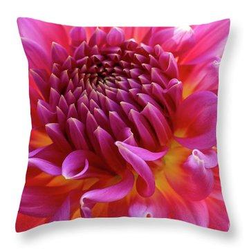 Vibrant Dahlia Throw Pillow