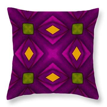 Vibrant Geometric Design Throw Pillow