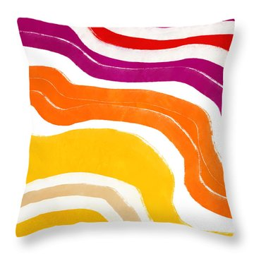 Vibrant Waves 1- Art By Linda Woods Throw Pillow