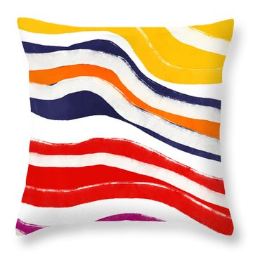 Vibrant Waves 2- Art By Linda Woods Throw Pillow