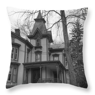Victorian Mansion - Waterloo Village Throw Pillow