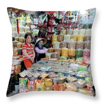 Vietnam Market Throw Pillow