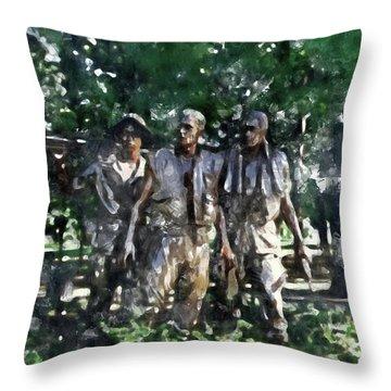 Vietnam Veteran Memorial Throw Pillow