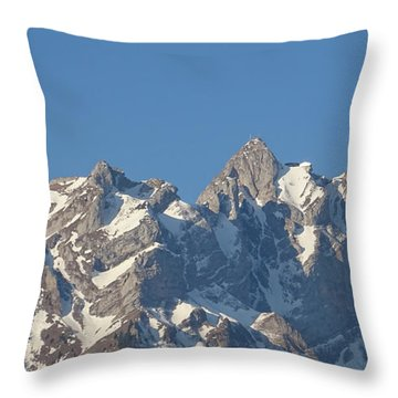View From My Art Studio - Pilatus II - April 2019 Throw Pillow