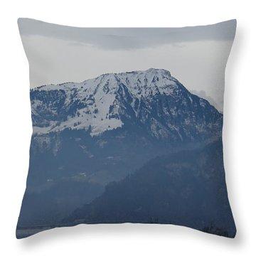 View From My Art Studio - Stanserhorn - March 2018 Throw Pillow