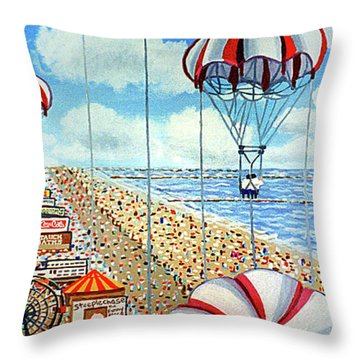 View From Parachute Jump Towel Version Throw Pillow