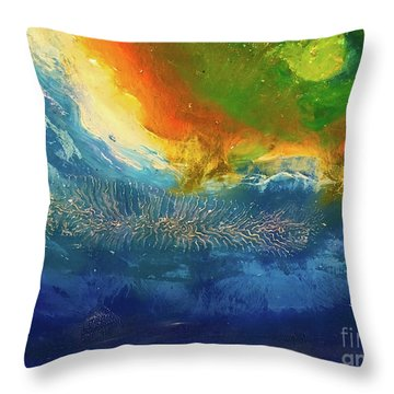 View From Space Throw Pillow