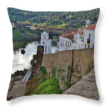 View From The Medieval Castle Throw Pillow