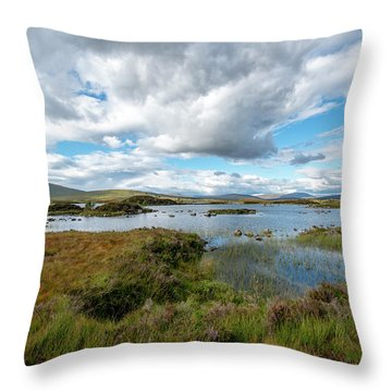 View In Glencoe, Scotland Throw Pillow