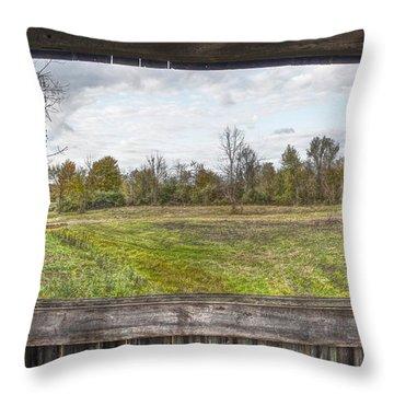 View Into Ohio's Nature Throw Pillow