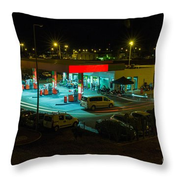 Power Station Throw Pillows